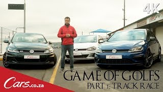 New Golf R vs Golf GTI vs Golf GTD - Track Race Shootout