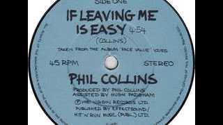 Phil Collins  If Leaving Me Is Easy With Lyrics