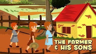 English Stories For Kids | The Farmer And His Sons | Cartoon Moral Stories For Babies | By Anon Kids