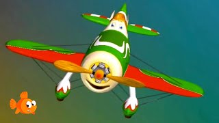 Build & Play Puzzle Apps - MEGA AIRPLANES - Construction Compilation for kids