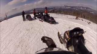 Quail Hill Maine on snowmobiles 28 Mar 2015