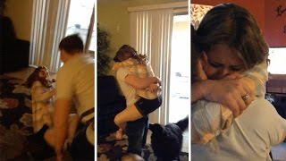 Soldier Returns Home To Surprise Sister