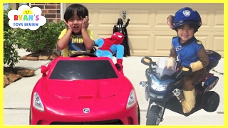 Spiderman Pretend Play Compilation! Steal Eggs Surprise Disney Toys! Kids Power Wheels Ride On Car