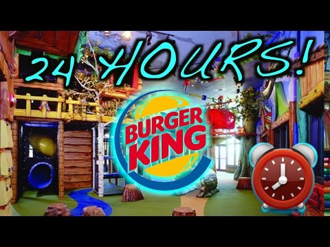 LOCKED IN 24 HOUR OVERNIGHT CHALLENGE AT BURGER KING PLAY PLACE OVERNIGHT BURGER KING FORT