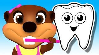 Tooth Brush Color Game | Brush Your Teeth Song | Learn Colours & Good Habits with Busy Beavers