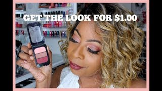 DOLLAR TREE | Beauty Benefits EVENING Trio Palette | GET THE LOOK w/o BREAKING BANK!!