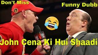 WWE hindi Gaali dubbing John cena ki Shaadi Must Watch