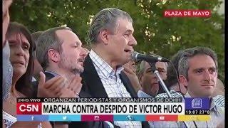 C5N - Politica: Discurso de Víctor Hugo Morales desde Plaza de Mayo