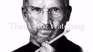 Steve Jobs Drawing On IPad Pro Using Procreate And Apple Pencil