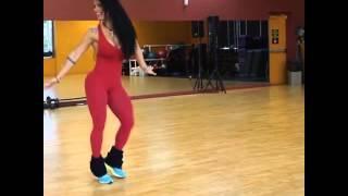Sue Lasmar dancing for carnival Rio 2016