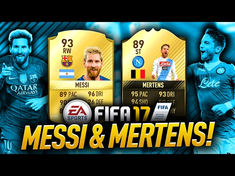 UPGRADED 89 TIF MERTENS & MESSI = AWESOME! 😎 FIFA 17 ULTIMATE TEAM