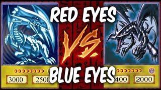 RED EYES vs BLUE EYES DECKS! (Yugioh Deck Duel)