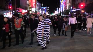 Halloween On Granville st Vancouver October 31 2014 B.C. Canada