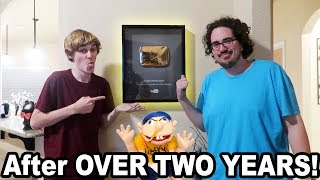 FINALLY HUNG THE SML GOLD PLAY BUTTON!!