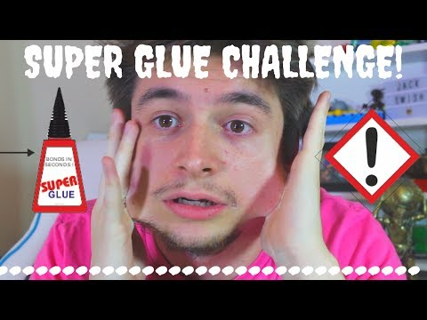 Super Glue Challenge   Super Gluing Lips Shut & Hands To Face