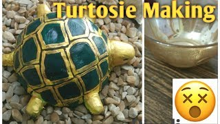 Clay craft | Art and Craf | recycle waste | Handmade Turtle  | homedecore idea |