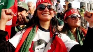 PTI beautiful women jalsa islamabad