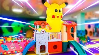 Indoor Playground Family Fun Play Area/ Nursery Rhymes Songs for children. Funny Babies videos