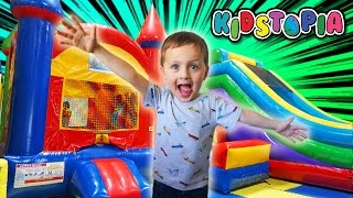 Indoor Playground Family Fun Play Area for kids Giant inflatable Slides Children Play Center Landon