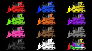 Bulldozer Colors - Construction Vehicles - The Kids