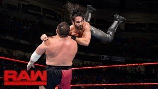 Seth Rollins vs. Samoa Joe: Raw, June 5, 2017