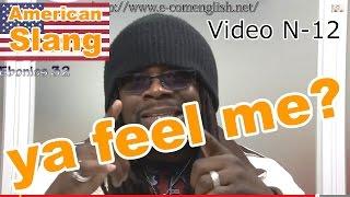 Slang Afro Américain - Argot Anglais 12/32 : You/ya feel me?