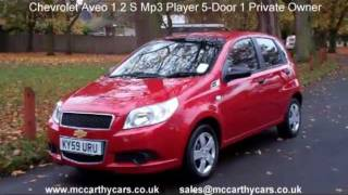 Used Chevrolet Aveo 1.2 S Mp3 Player 5-Door 1 Private Owner KY59 for sale Croydon McCarthy Cars