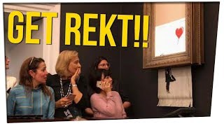 Banksy Art Self-Destructs During Auction ft. DavidSoComedy