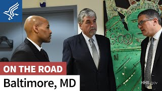 Acting Secretary Eric Hargan and Surgeon General Jerome Adams visit Baltimore