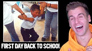 HILARIOUS FIRST DAY BACK TO SCHOOL (Funny Reactions)