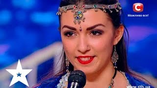 Charming Ukrainian girl performs Bollywood dance on Ukraine's got talent