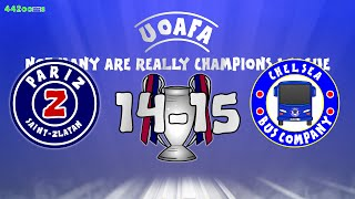 Chelsea vs PSG - 2014/2015 Highlights (Football Flashback UEFA Champions League Parody Cartoon)
