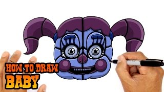 How to Draw Baby (FNAF SIster Location)- Step by Step Art Lesson