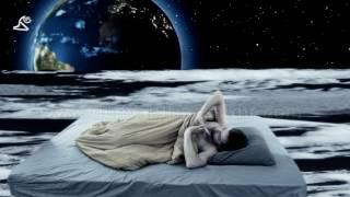 waking up on moon - dream fantasy scene - stock footage