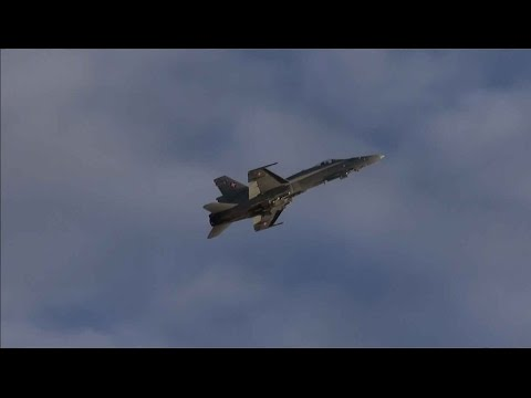 Sanicole Sunset Airshow 2015 -  F/A-18 Hornet