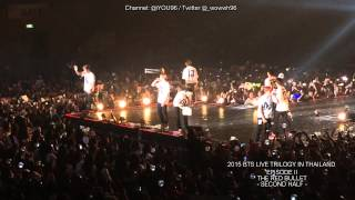 150808 BTS The Red Bullet (Second Half) in Thailand - Ending & I need you