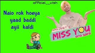 Miss you ena sarra    Lyrics video    Romantic    Navjeet    official vish   2k18    share ...