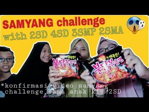Samyang challenge SD SMP SMP KULIAH kolaborasi !! [MESTI NONTON] wkwkwk