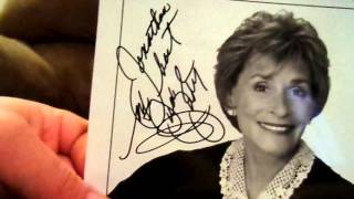 1 Email Success Autograph Judge Judy  12-31-15