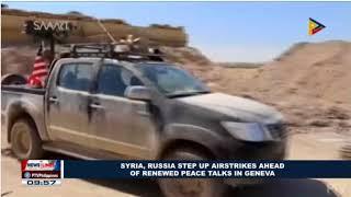 LATEST NEWS:Syria, Russia Step up airstrikes ahead of renewed peace talks in Geneva.