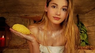 ASMR - Let's enjoy a HOT Sauna together! WASHING YOU and MASSAGING you! Most REAL SAUNA EXPERIENCE!