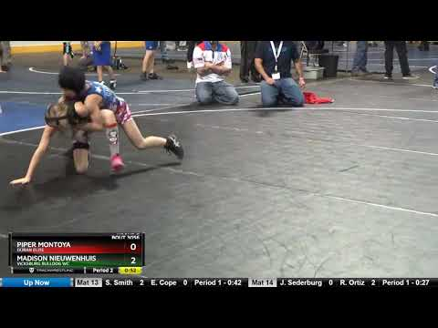 12G Girls 57-64 Madison Nieuwenhuis Vicksburg Bulldog WC Vs Piper Montoya Duran Elite