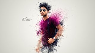 Photoshop tutorials | Splatter / Dispersion photo manipulation Tutorial