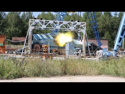 watch Испытание пушки Т-50 / Test of cannon for T-50 PAK FA