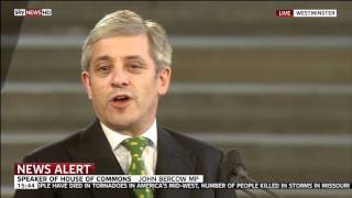 Obama welcomed by John Bercow