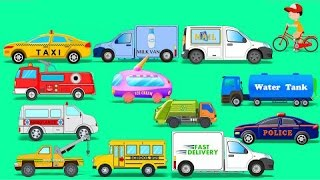 Learn Street Vehicles | Toy Car | Video For Kids | Learn Transport | compiliation