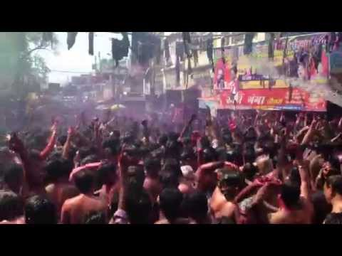 Holi celebrations in Allahabad India. 2015