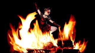 Naked Scottish Fire Dancing - Edinburgh Wiccan Beltane Fire Festival