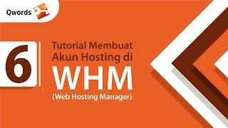 Membuat Akun Hosting pada WebHost Manager (WHM)