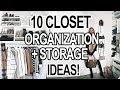 Download Video Download 10 SMALL CLOSET ORGANIZATION + STORAGE IDEAS! 3GP MP4 FLV